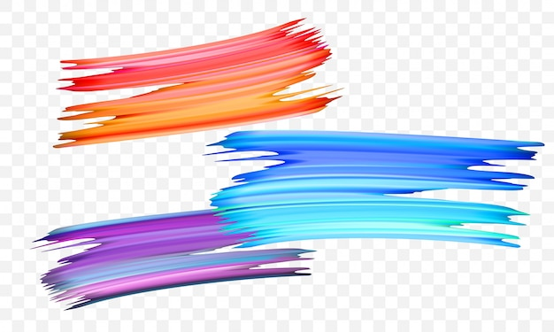 Acrylic paint brush color   abstract strokes