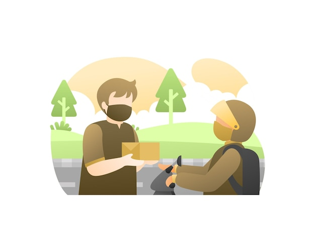 Act of kindness illustration