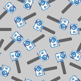 Action camera for vlogging video recording in seamless pattern