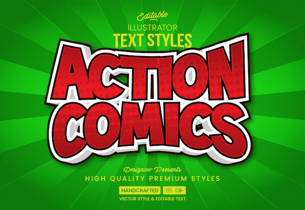 Action comic text style