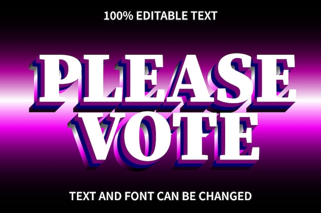 Action editable text effect modern style