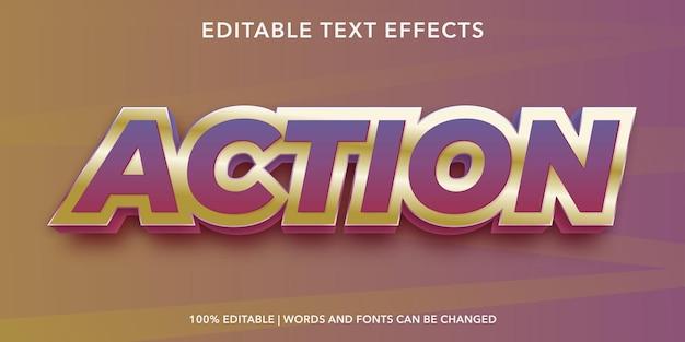 Редактируемый текстовый эффект действия