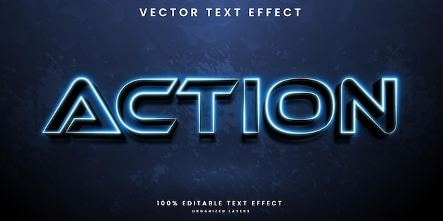 Action editable text effect