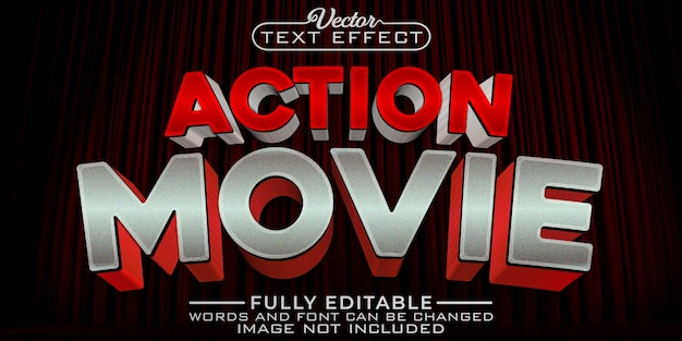 Action movie editable text effect template