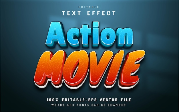 Action movie text, gradient style text effect
