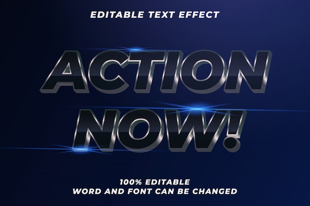 Action movie text style effect