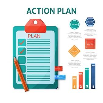Action plan concept illustration time management