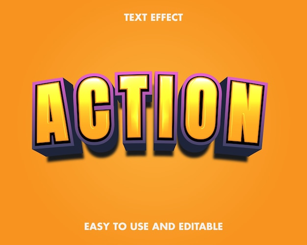Action text effect. editable font style.