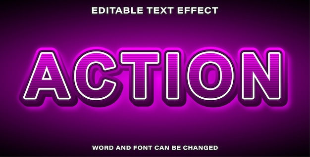 Action text effect style