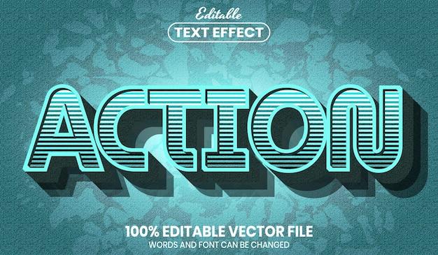 Текст действия, редактируемый текстовый эффект стиля шрифта