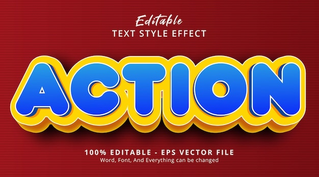 Action text on modern gradient style effect, editable text effect