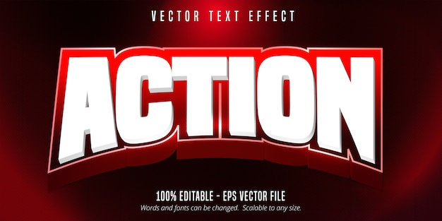 Action text, sport style editable text effect