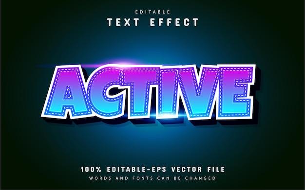 Active 3d text effect