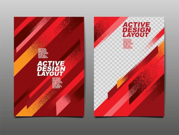 Active design layout ,template design.