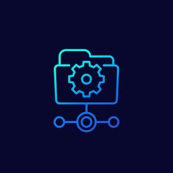 웹용 active directory 라인 아이콘