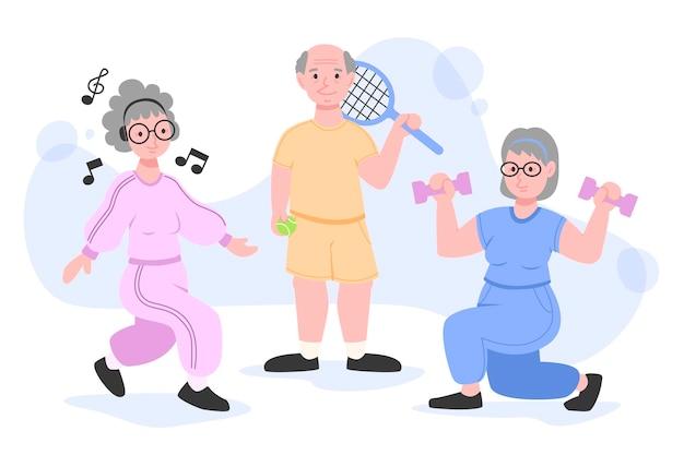 アクティブな高齢者