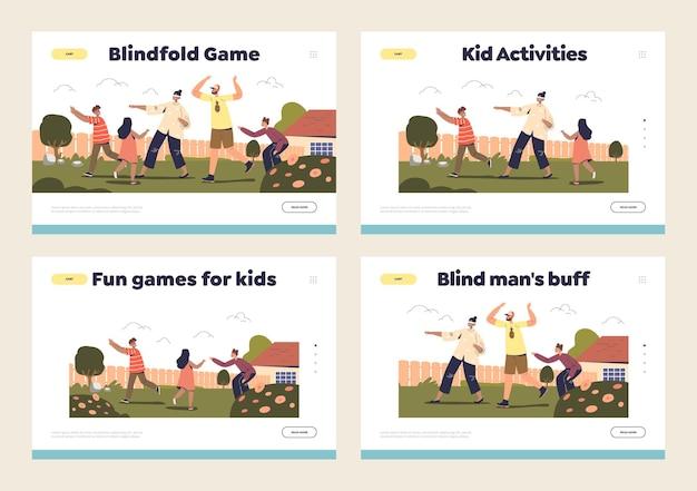 Концепция активных забавных семейных игр на открытом воздухе
