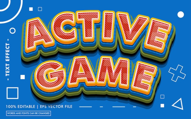 Active game text effect style
