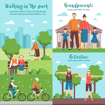 Active grandparents outdoor compositions