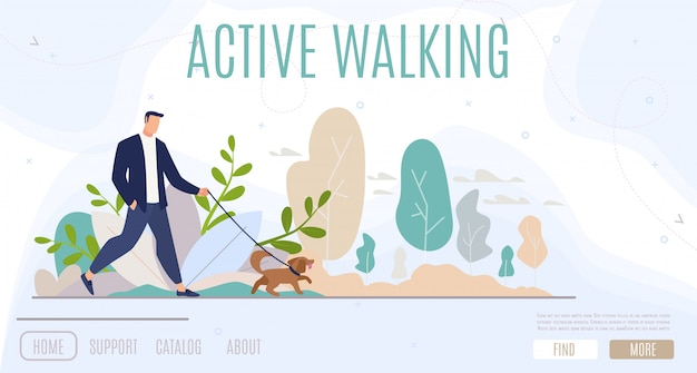 Active leisure in city web banner