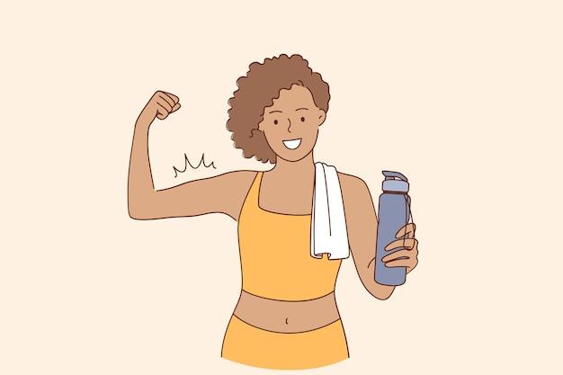 활동적인 라이프 스타일과 운동 개념