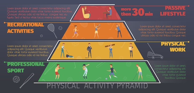 Active lifestyle colorful infographics
