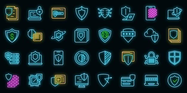アクティブな保護アイコンは、アウトラインベクトルを設定します。ファイルファイアウォール。コーディングガード