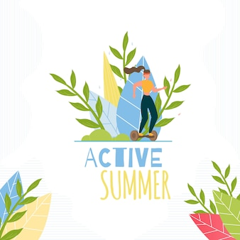 Active summer inspiration text