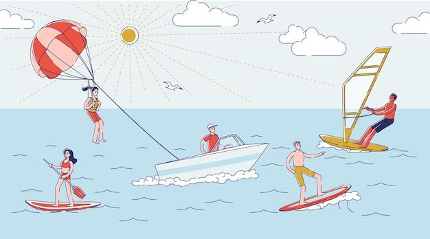 Концепция активного летнего отдыха и экстремального отдыха