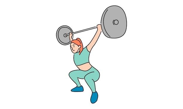 Активная женщина занимается фитнесом, спортивная концепция