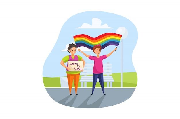 Activism, lgbt, parade concept