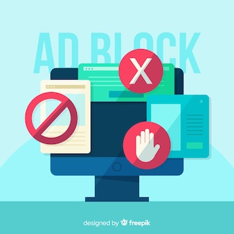 Ad block pop up banner concept