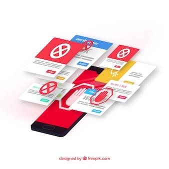 Концепция рекламного блока с плоским дизайном