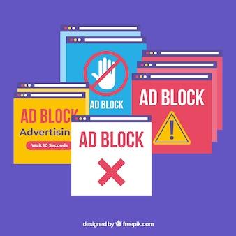 広告ブロックのポップアップの概念