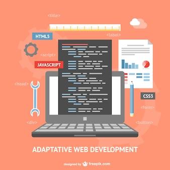 Adaptative web development vector Free Vector