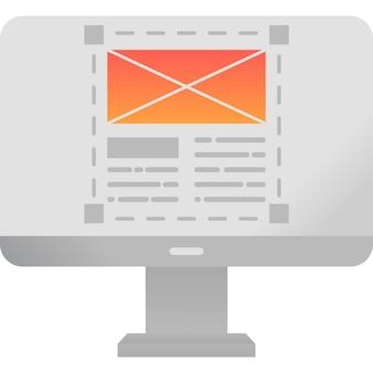Адаптивный дизайн макета на значок вектора экрана пк