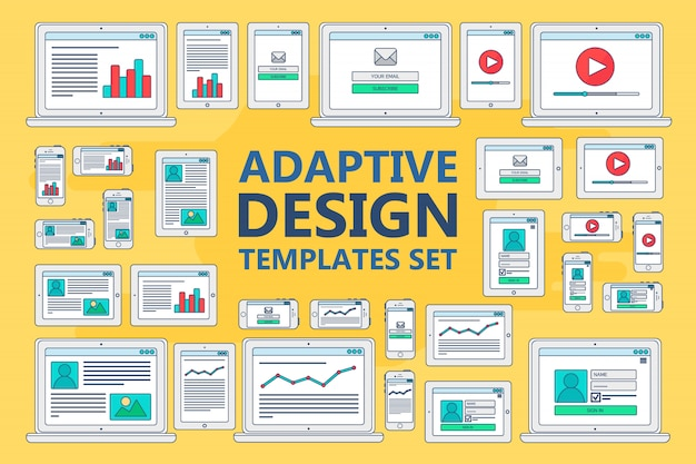 Adaptive web templates for sites