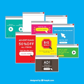 Add block pop up concept with flat design