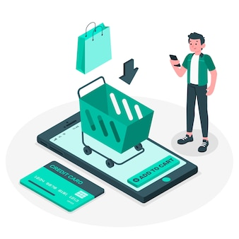 Add to cart concept illustration