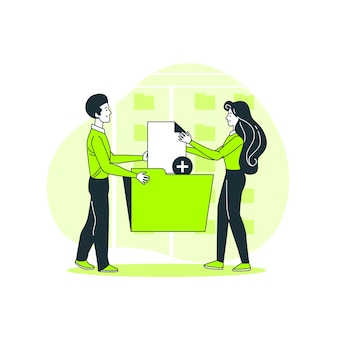 Add files concept illustration