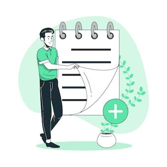 Add notes concept illustration
