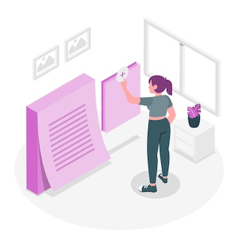 Add notes concept illustration
