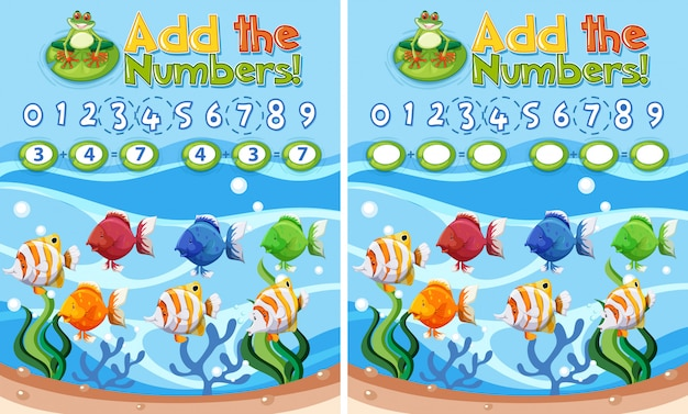 Add the number underwater theme