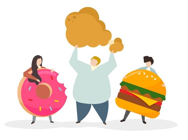 Пристрастие к нездоровой пище и закускам