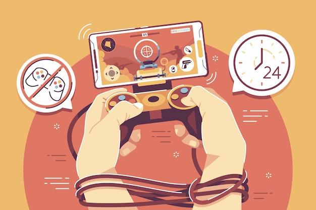 Пристрастился к иллюстрации онлайн-игр