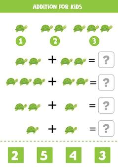 Дополнительная игра с милой мультяшной черепахой
