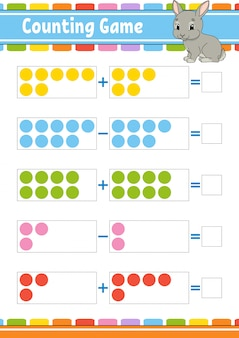 Addition and subtraction game for children
