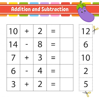 Addition and subtraction game.