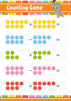Addition and subtraction task for kids