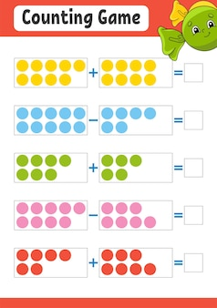 Addition and subtraction. task for kids.